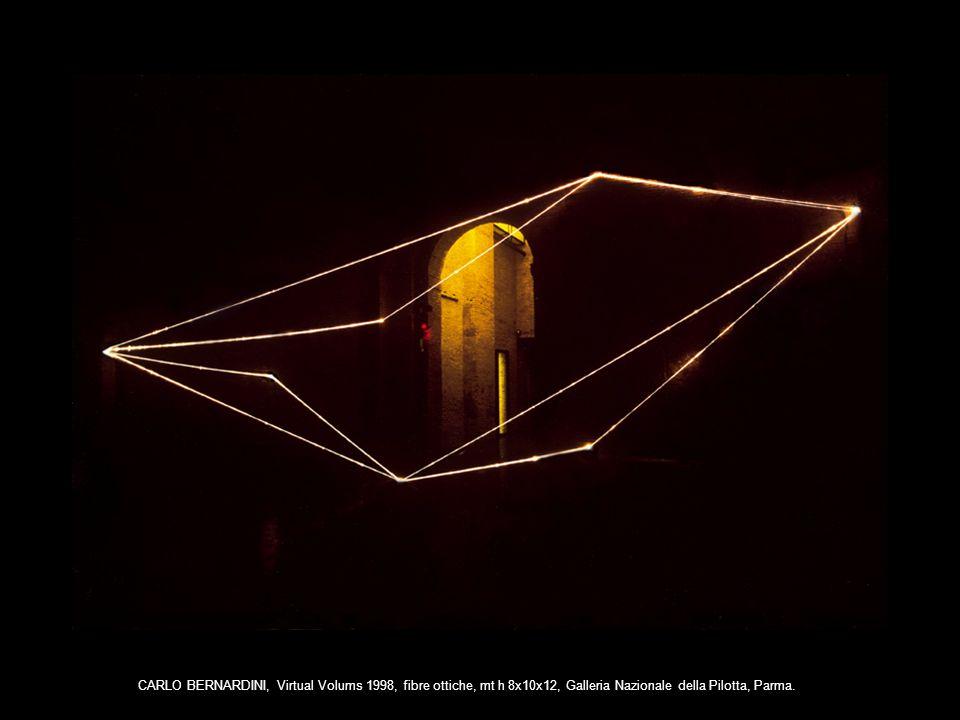 CARLO BERNARDINI, Virtual Volums 1998, fibre ottiche, mt h 8x10x12, Galleria Nazionale della Pilotta, Parma.