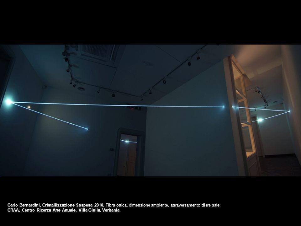 Carlo Bernardini, Cristallizzazione Sospesa 2010, Fibra ottica, dimensione ambiente, attraversamento di tre sale. CRAA, Centro Ricerca Arte Attuale, V
