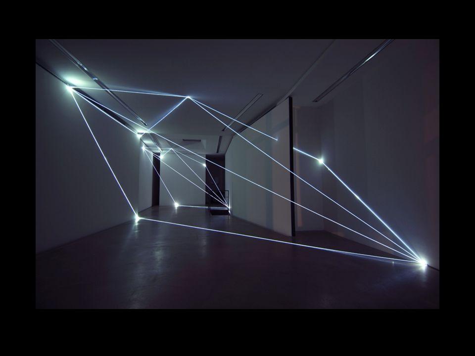 Carlo Bernardini, Codice Progressivo 2010, Installazione in fibre ottiche, mt h 12 x 12 x 18.
