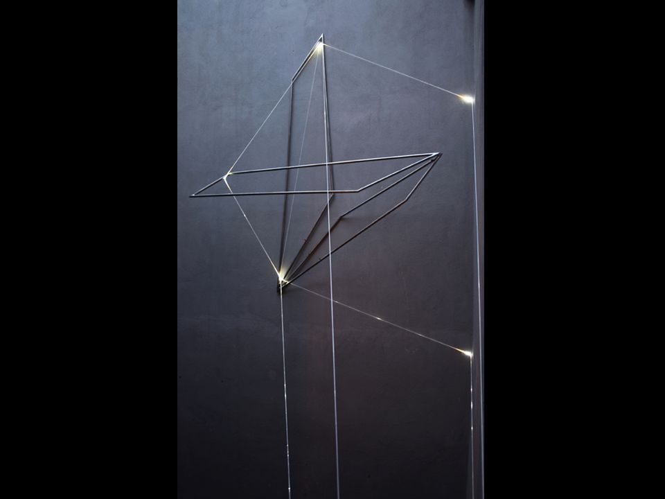 CATALIZZATORE DI LUCE 2007, fibre ottiche; h mt 3x5x4. Trani, Castello Svevo.