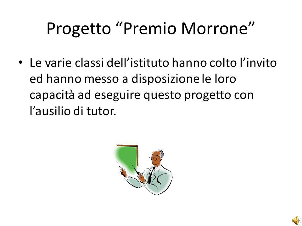 Progetto Premio Morrone Listituto I.T.I. G.