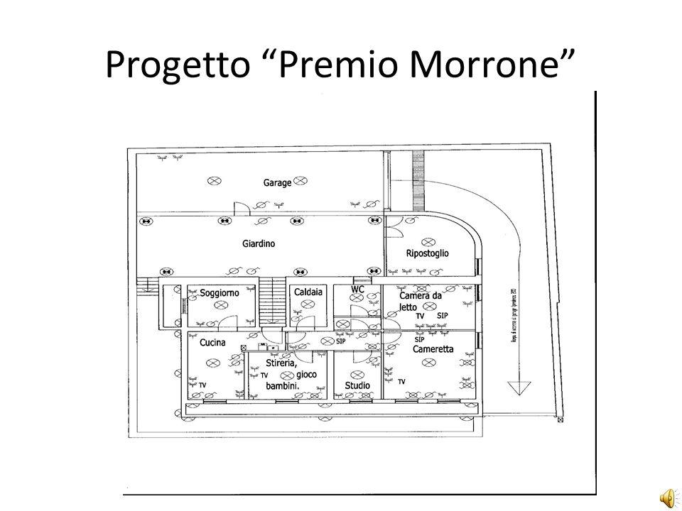 Progetto Premio Morrone Il progetto è stato realizzato eseguendo una planimetria in scala con il software AutoCad 2006 di un locale adibito ad uso civile comprensivo di illustrazione e posizionamento dei componenti elettrici da installare
