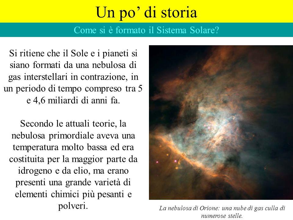 Come si è formato il Sistema Solare? Si ritiene che il Sole e i pianeti si siano formati da una nebulosa di gas interstellari in contrazione, in un pe