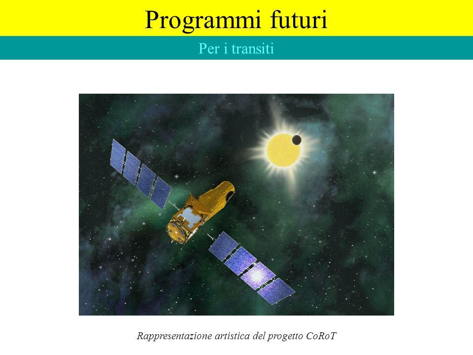 Programmi futuri Per i transiti Rappresentazione artistica del progetto CoRoT