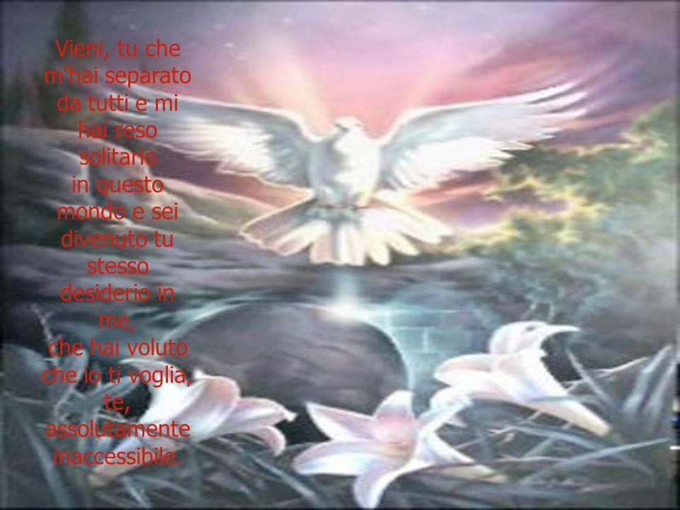 Vieni, o colui che la mia povera anima ha amato ed ama…!