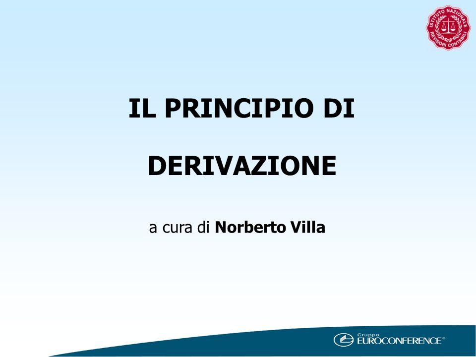 IL PRINCIPIO DI DERIVAZIONE a cura di Norberto Villa