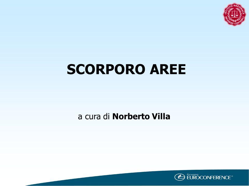 SCORPORO AREE a cura di Norberto Villa