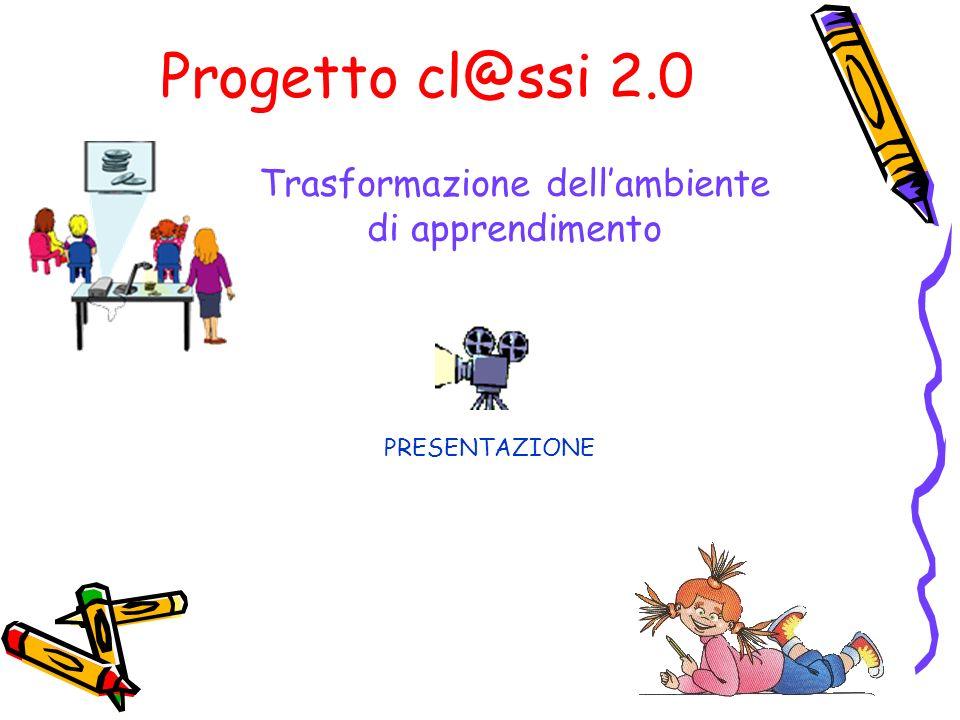 Progetto cl@ssi 2.0 Trasformazione dellambiente di apprendimento PRESENTAZIONE