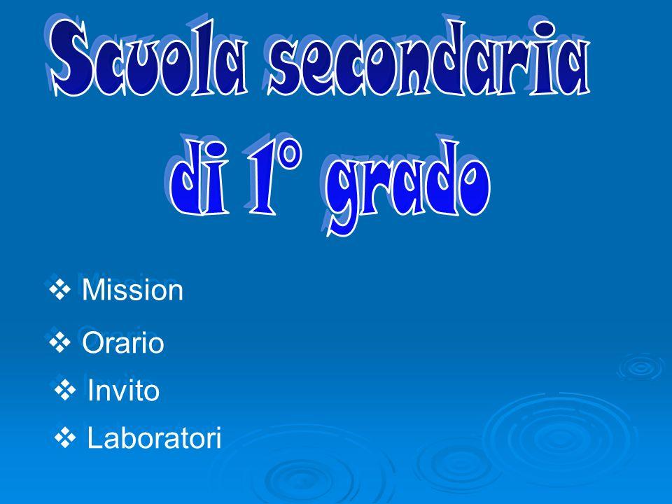 Mission Orario Laboratori Invito