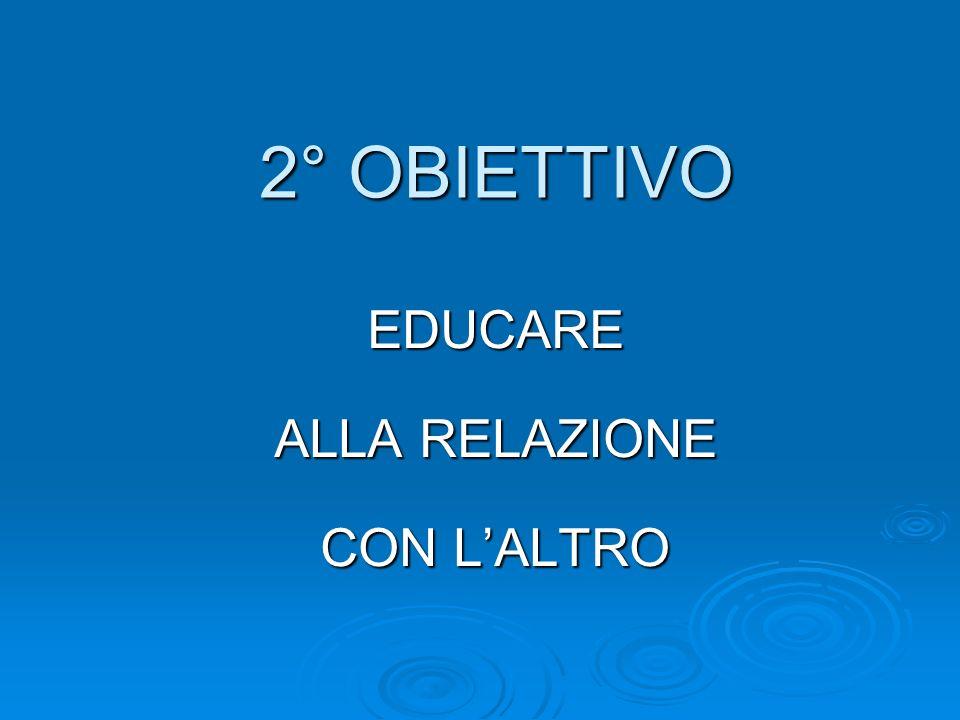 2° OBIETTIVO EDUCARE ALLA RELAZIONE CON LALTRO