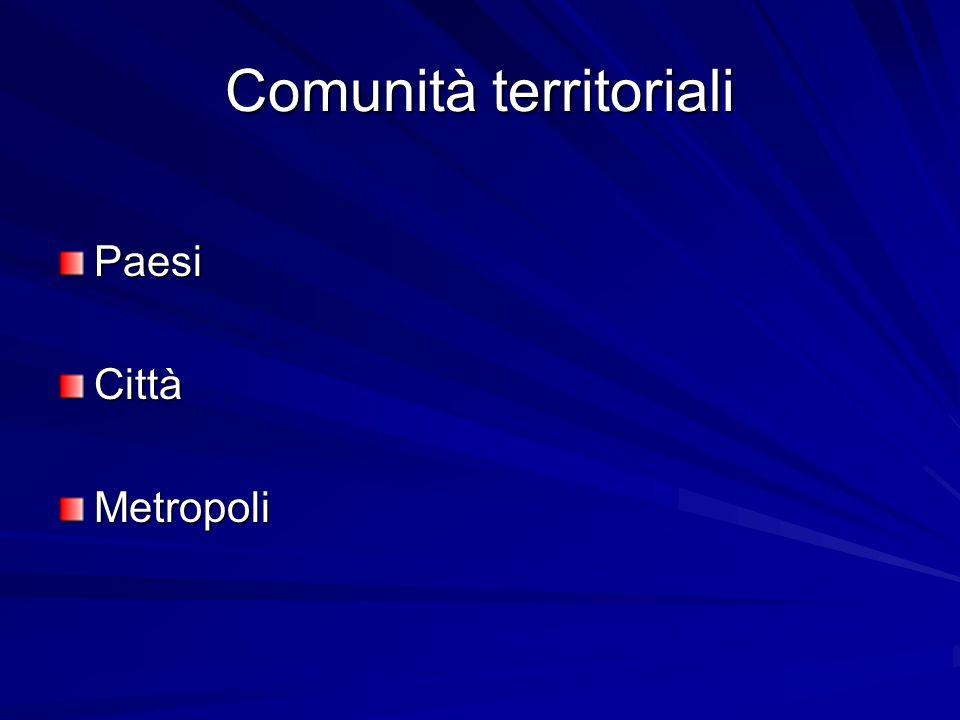 Comunità territoriali PaesiCittàMetropoli
