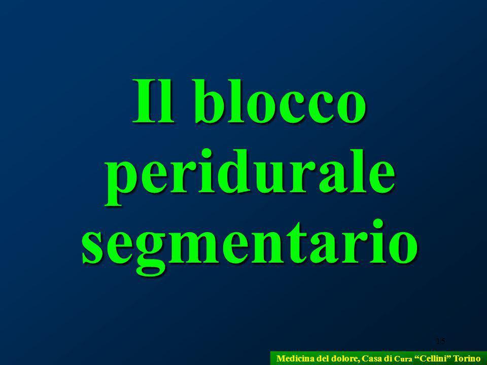 15 Il blocco peridurale segmentario Medicina del dolore, Casa di Cura Cellini Torino