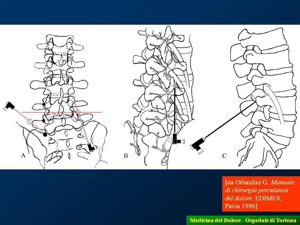 19 [da Orlandini G. Manuale di chirurgia percutanea del dolore. EDIMES, Pavia 1996] Medicina del Dolore - Ospedale di Tortona