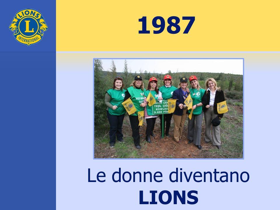 1987 Le donne diventano LIONS