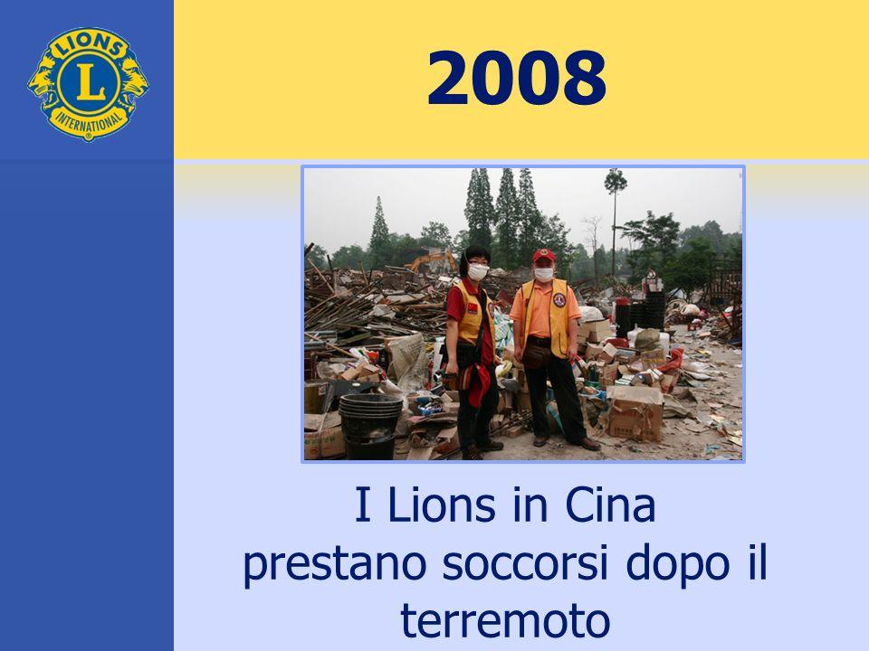 2008 I Lions in Cina prestano soccorsi dopo il terremoto