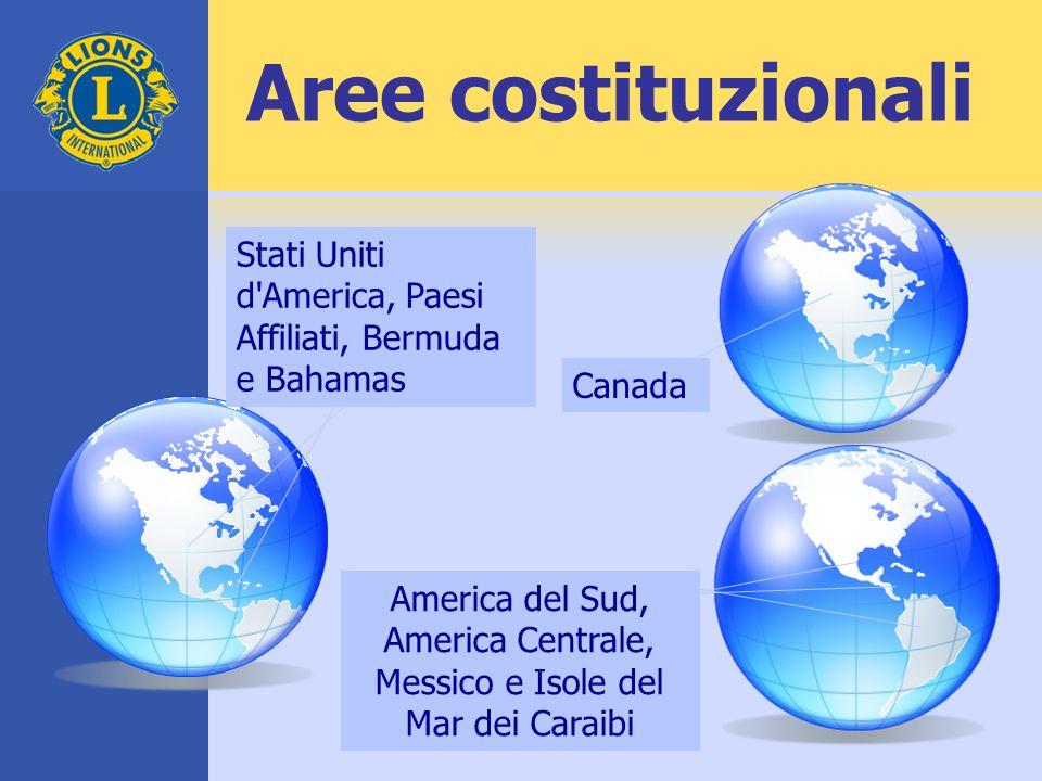 Aree costituzionali America del Sud, America Centrale, Messico e Isole del Mar dei Caraibi Stati Uniti d'America, Paesi Affiliati, Bermuda e Bahamas C
