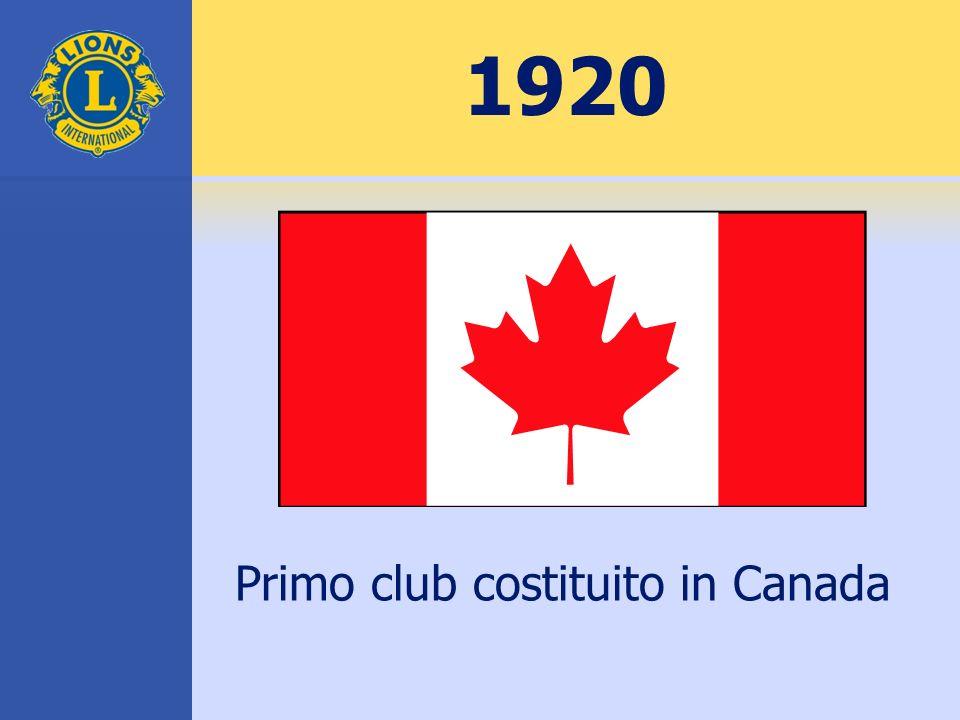 1920 Primo club costituito in Canada