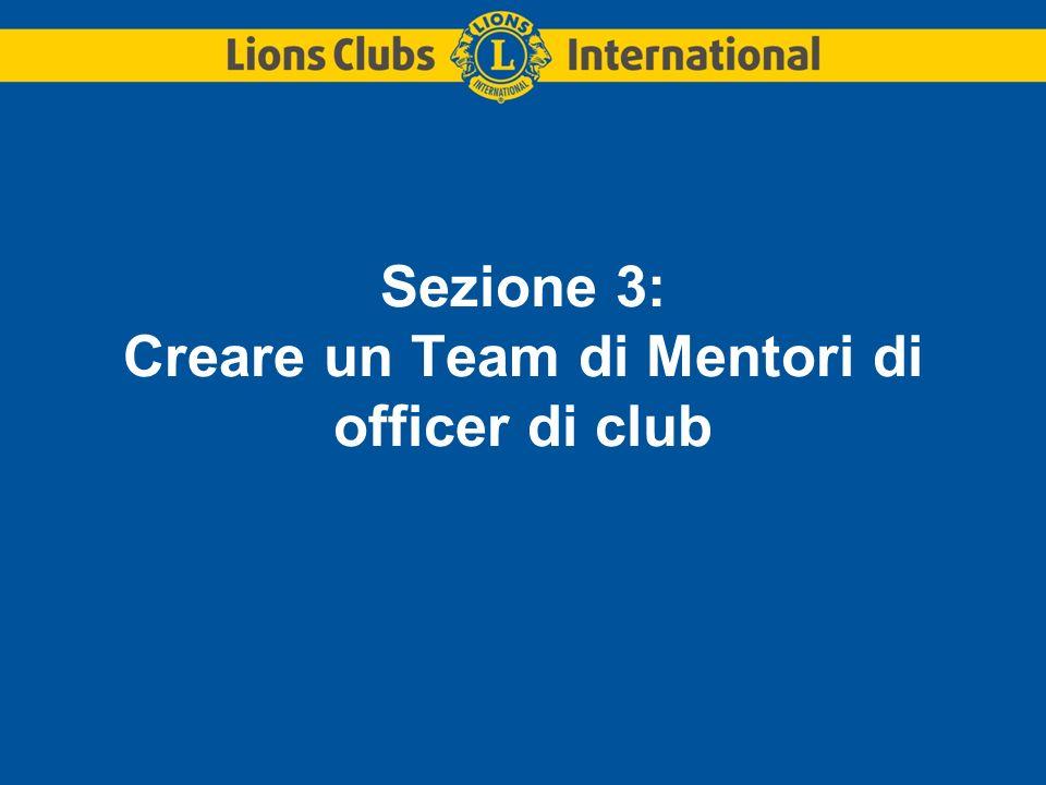 Sezione 3: Creare un Team di Mentori di officer di club