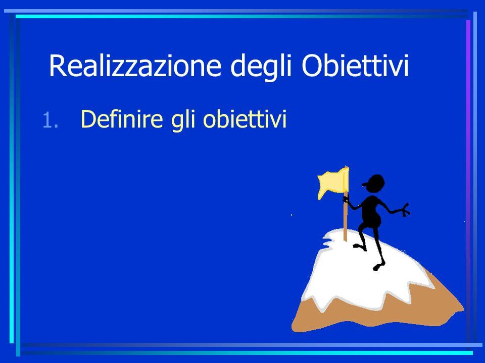 Realizzazione degli Obiettivi 1. Definire gli obiettivi