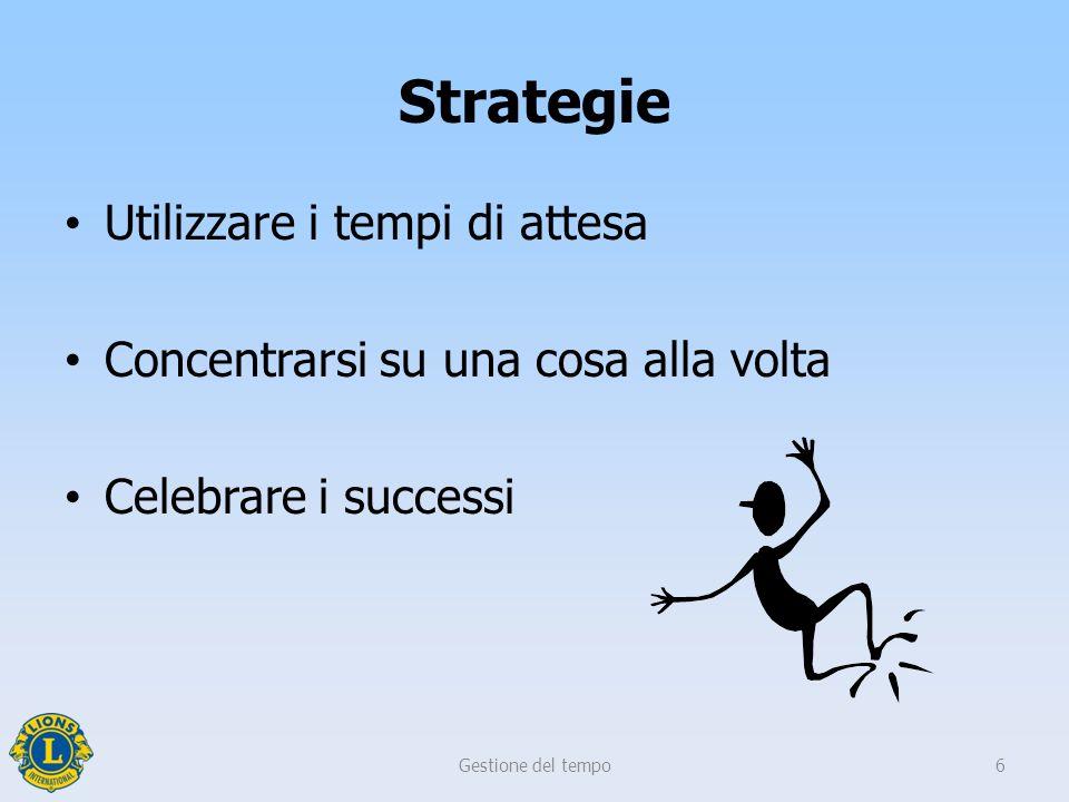 Strategie Utilizzare i tempi di attesa Concentrarsi su una cosa alla volta Celebrare i successi Gestione del tempo6