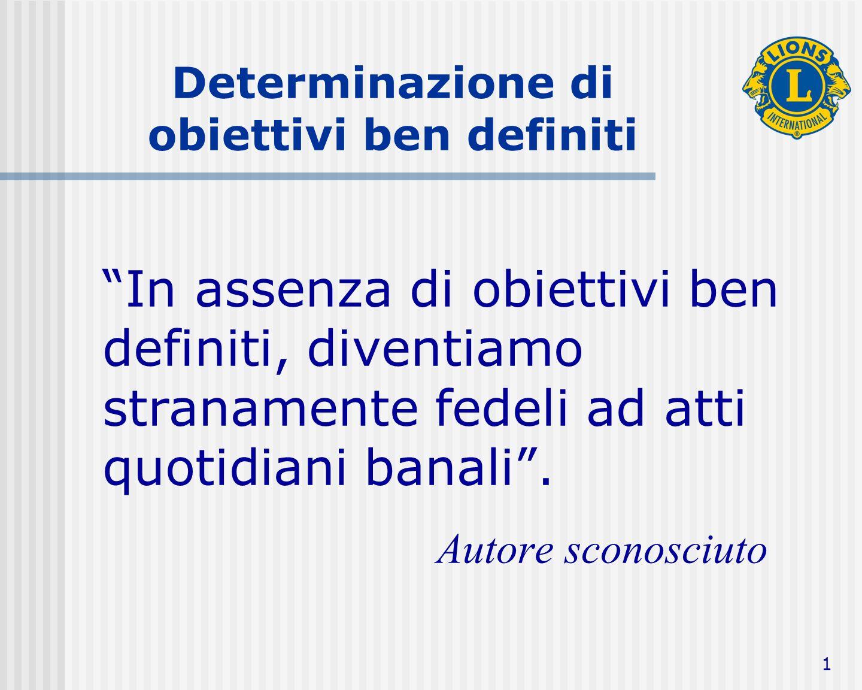 2 Definizione Un obiettivo è una meta specifica da raggiungere, tramite limpegno comune.