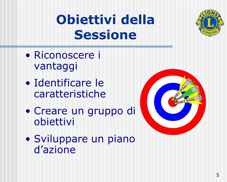 6 Il raggiungimento degli obiettivi La ragione per cui la maggioranza delle persone non raggiunge mai i propri obiettivi, è che questi non vengono chiaramente definiti, o perché le persone non li considerano realmente raggiungibili.