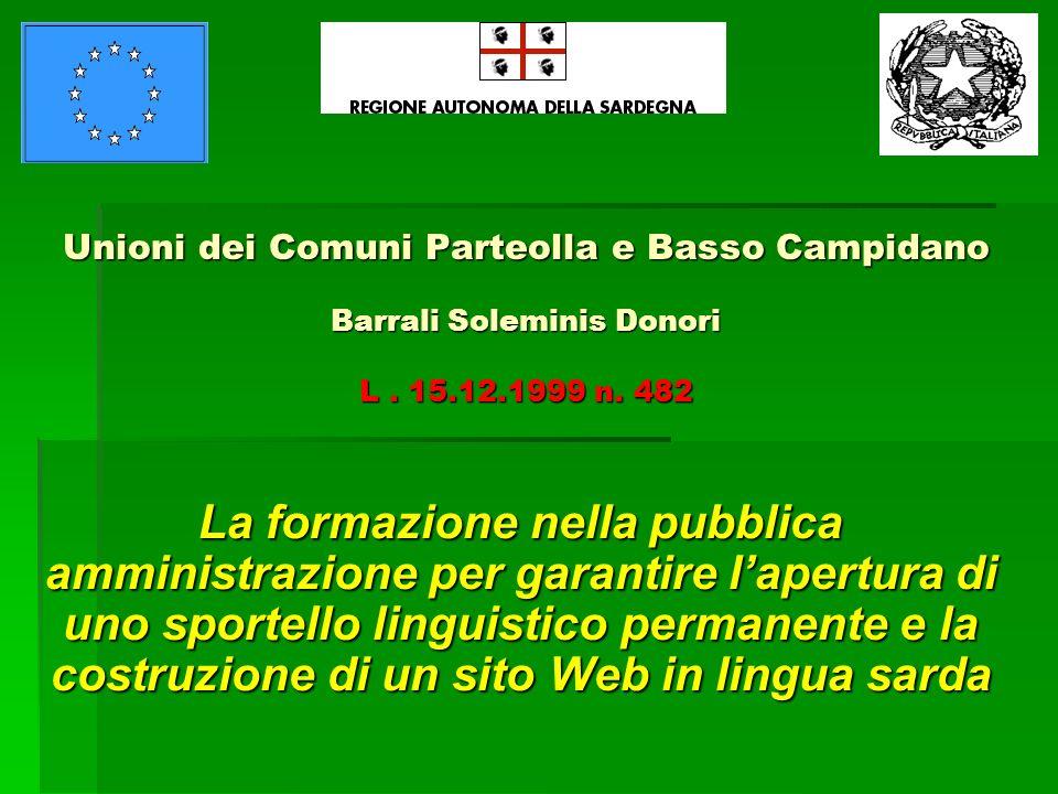 Unioni dei Comuni Parteolla e Basso Campidano Barrali Soleminis Donori L.