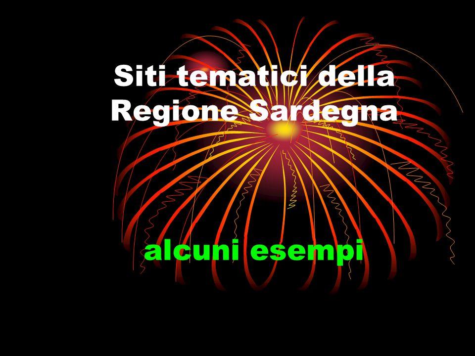 Siti tematici della Regione Sardegna alcuni esempi
