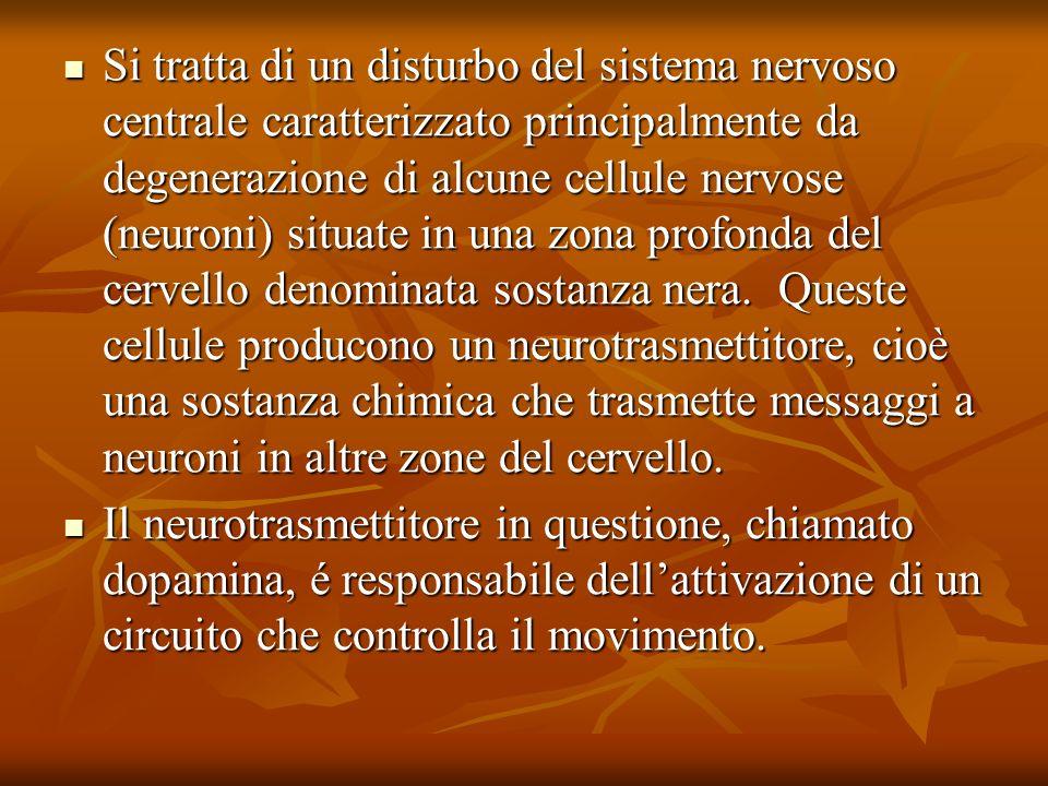 Si tratta di un disturbo del sistema nervoso centrale caratterizzato principalmente da degenerazione di alcune cellule nervose (neuroni) situate in un