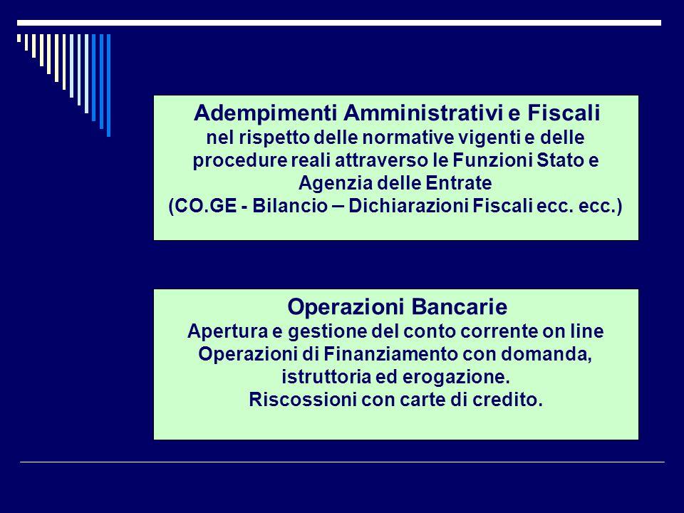 Adempimenti Amministrativi e Fiscali nel rispetto delle normative vigenti e delle procedure reali attraverso le Funzioni Stato e Agenzia delle Entrate