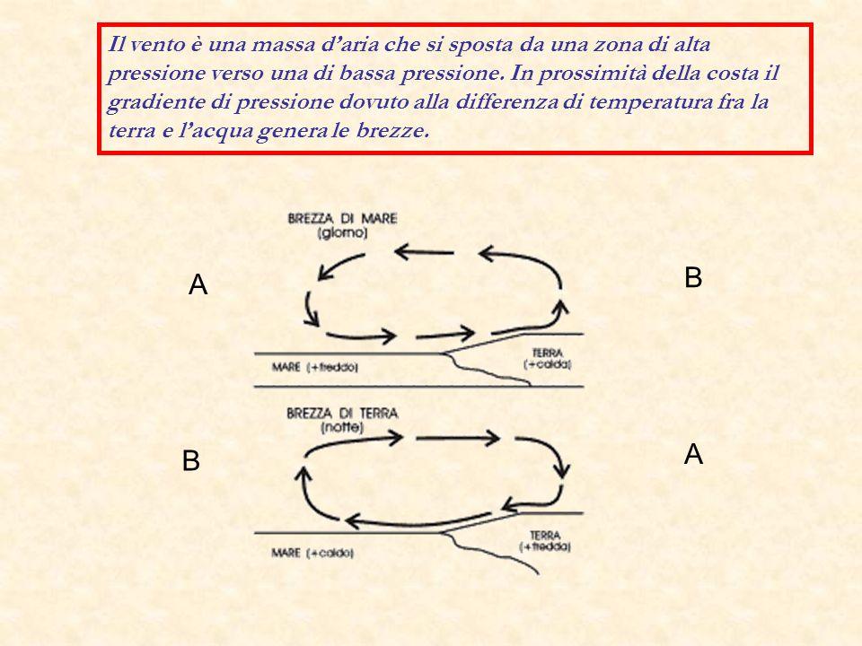 Cliclone maturo visto dall alto e di lato secondo le due sezioni A-B e C-D.