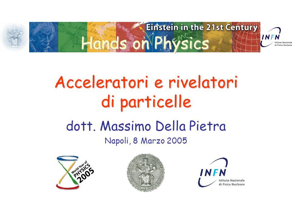 Hands on Physics Acceleratori e rivelatori di particelle dott. Massimo Della Pietra Napoli, 8 Marzo 2005