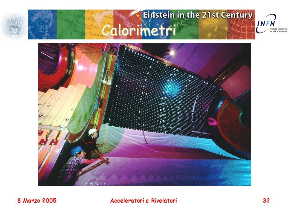 8 Marzo 2005Acceleratori e Rivelatori32 Calorimetri