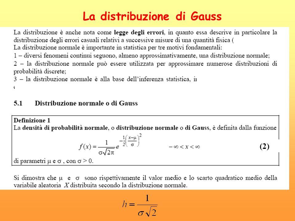 La distribuzione di Gauss (2)