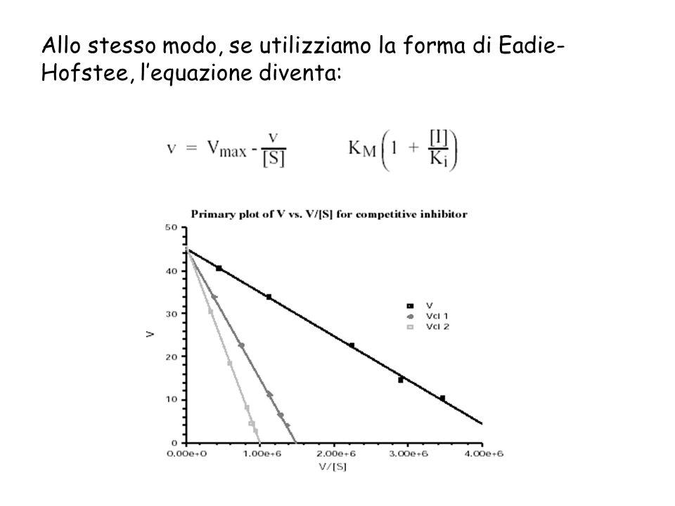 Allo stesso modo, se utilizziamo la forma di Eadie- Hofstee, lequazione diventa:
