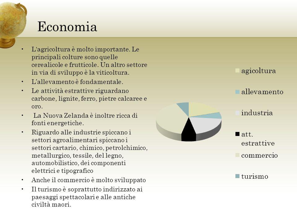 Economia L agricoltura è molto importante.