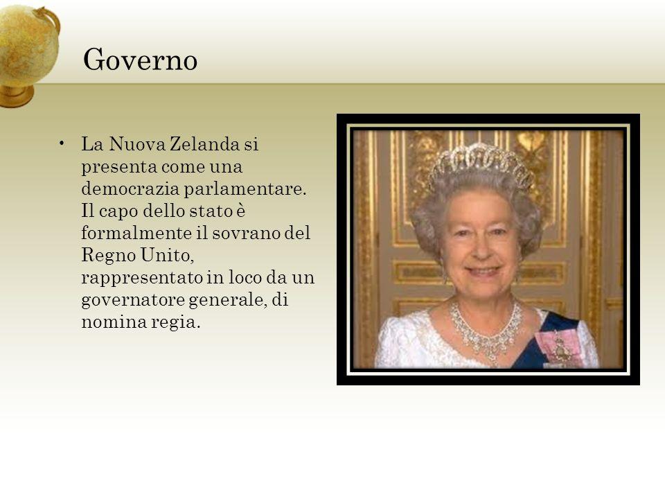 Governo La Nuova Zelanda si presenta come una democrazia parlamentare. Il capo dello stato è formalmente il sovrano del Regno Unito, rappresentato in