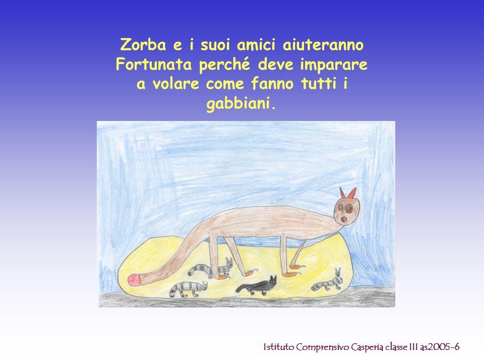 Zorba e i suoi amici aiuteranno Fortunata perché deve imparare a volare come fanno tutti i gabbiani. Istituto Comprensivo Casperia classe III as2005-6