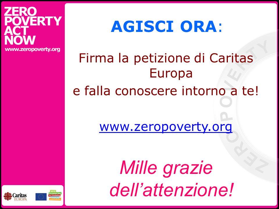 AGISCI ORA: Firma la petizione di Caritas Europa e falla conoscere intorno a te.