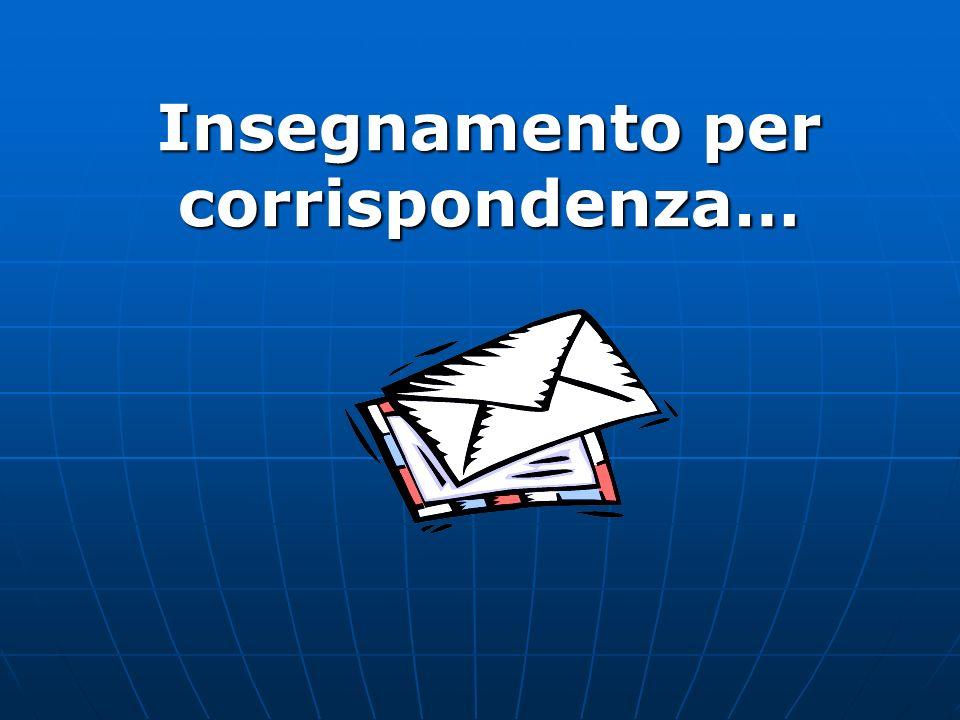 Insegnamento per corrispondenza…