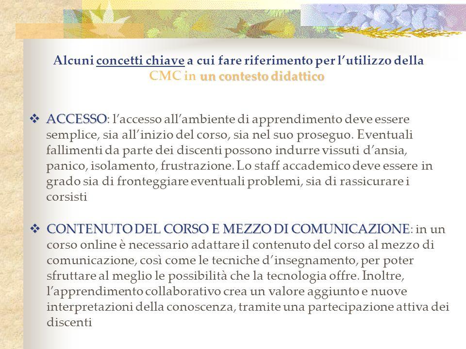 DINAMICHE DI GRUPPO DINAMICHE DI GRUPPO: -Lambiente online offre lopportunità per un lavoro di collaborazione e cooperazione.