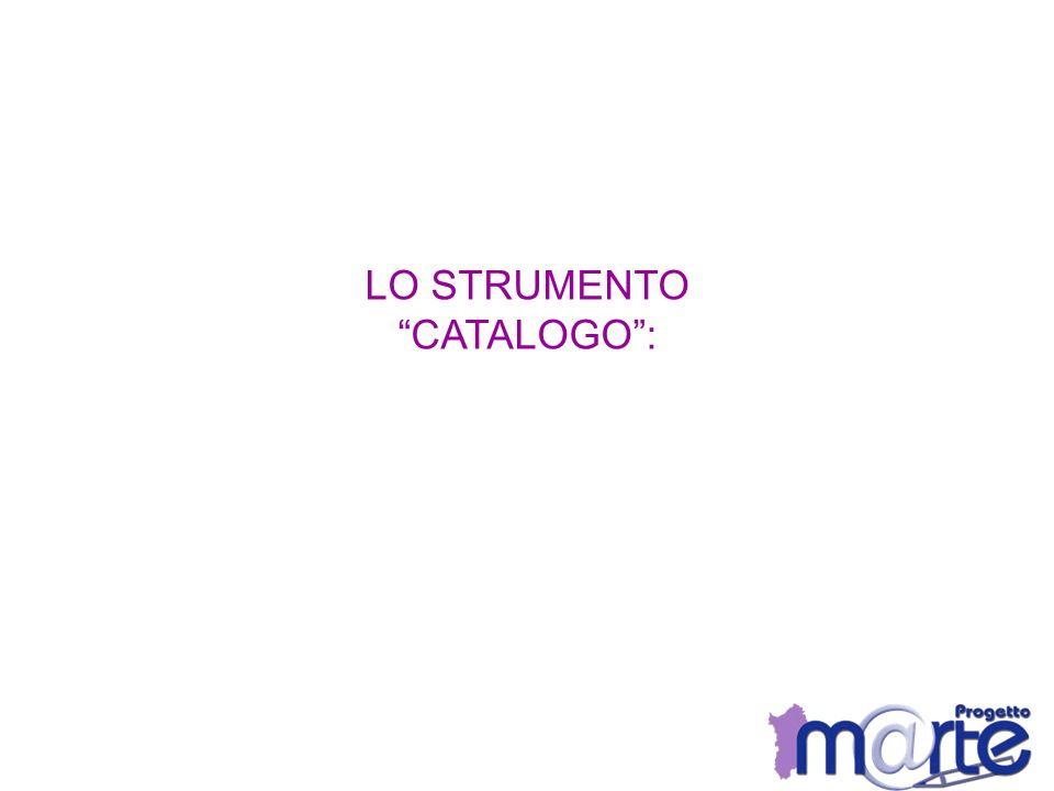 LO STRUMENTO CATALOGO: