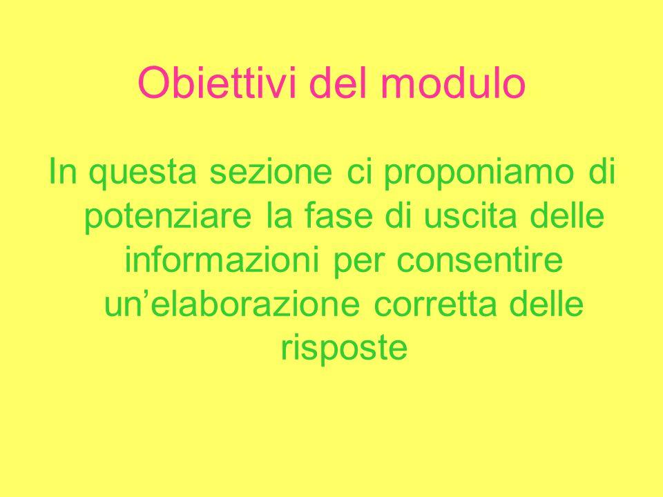 ORGANIZZAZIONE DEL MODULO 1.Tecniche per lautomatizzazione del pensiero 2.