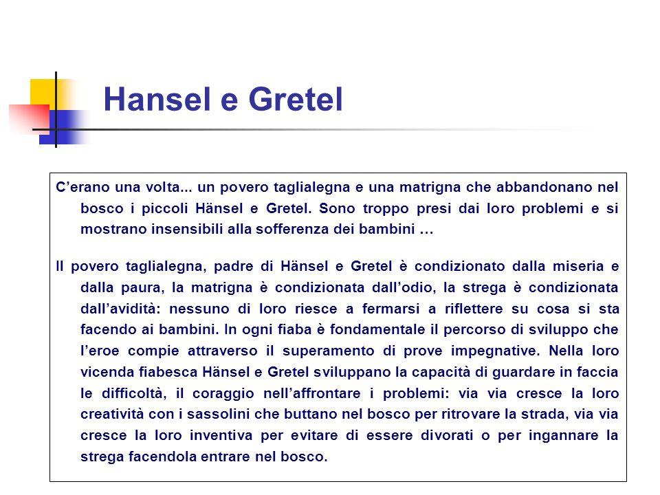 Hansel e Gretel Cerano una volta... un povero taglialegna e una matrigna che abbandonano nel bosco i piccoli Hänsel e Gretel. Sono troppo presi dai lo