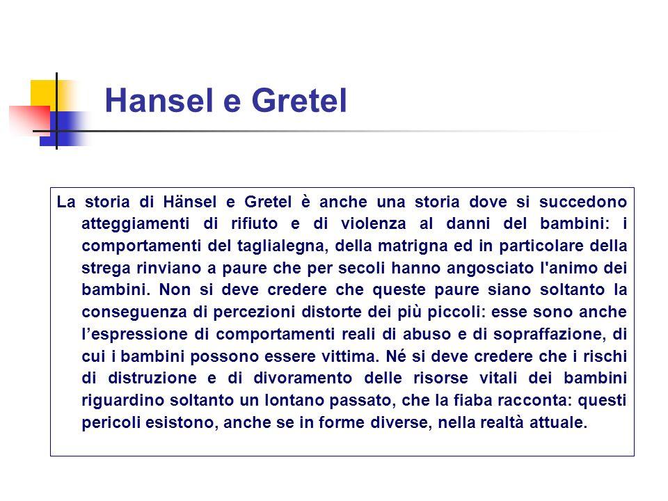 La storia di Hänsel e Gretel è anche una storia dove si succedono atteggiamenti di rifiuto e di violenza al danni del bambini: i comportamenti del tag
