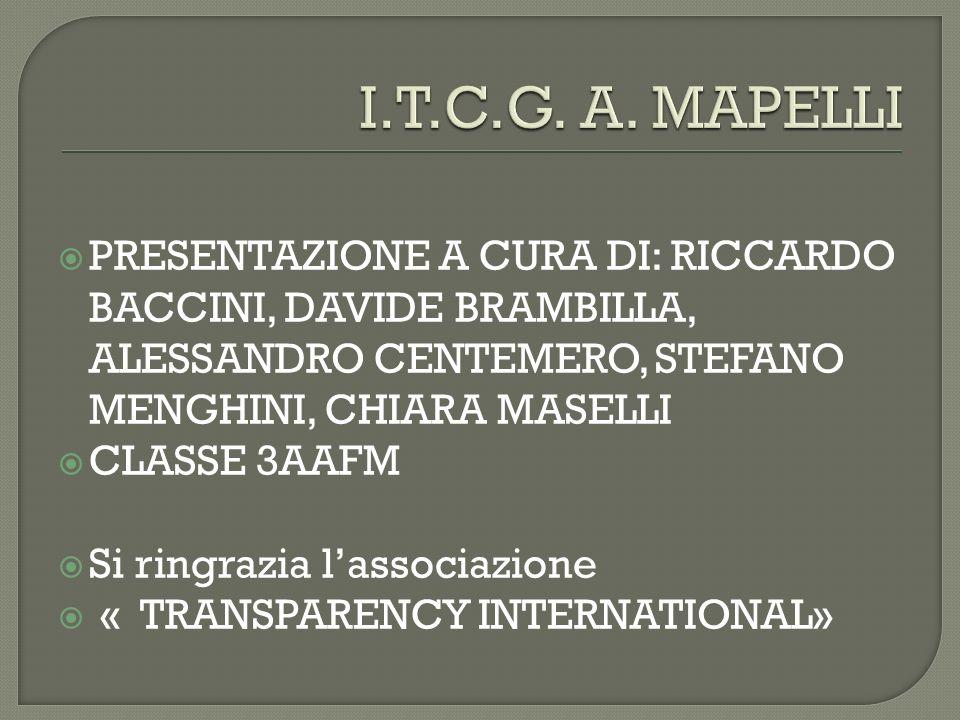 PRESENTAZIONE A CURA DI: RICCARDO BACCINI, DAVIDE BRAMBILLA, ALESSANDRO CENTEMERO, STEFANO MENGHINI, CHIARA MASELLI CLASSE 3AAFM Si ringrazia lassocia