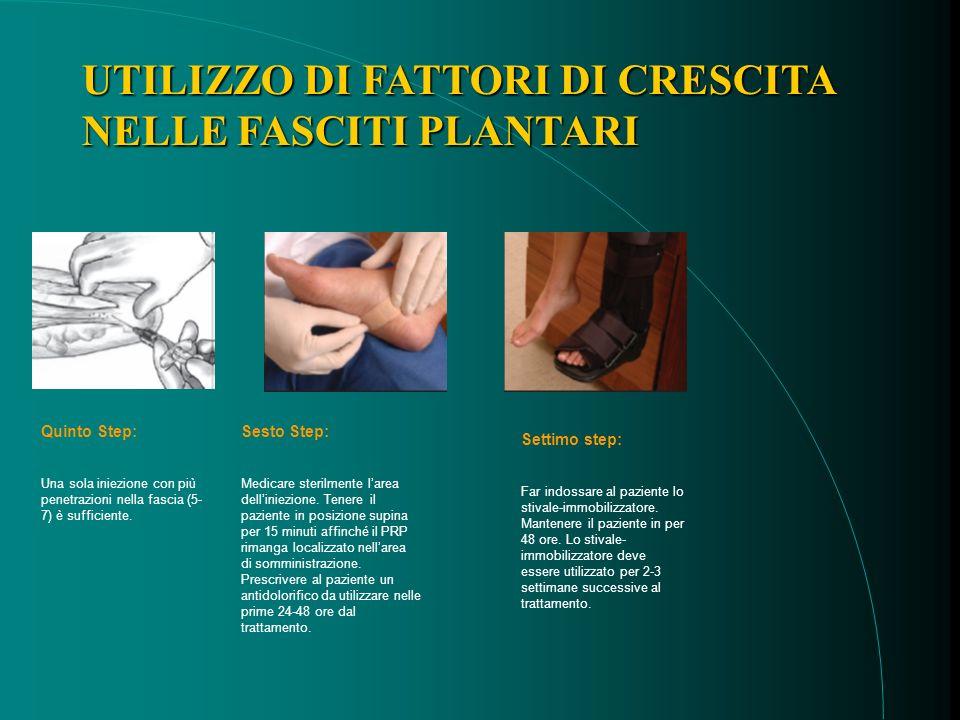 Quinto Step: Una sola iniezione con più penetrazioni nella fascia (5- 7) è sufficiente.