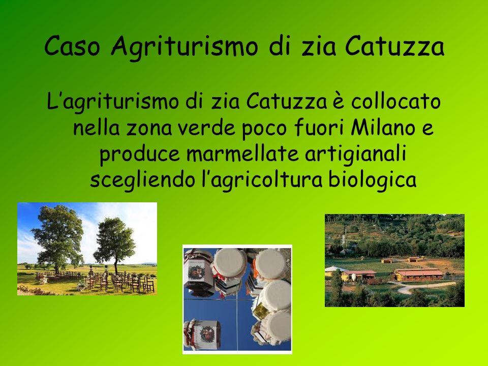 Caso Agriturismo di zia Catuzza Lagriturismo di zia Catuzza è collocato nella zona verde poco fuori Milano e produce marmellate artigianali scegliendo