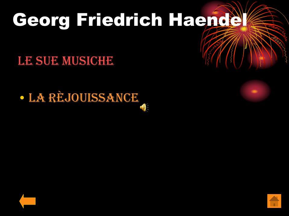 Georg Friedrich Haendel Le sue Musiche Sinfonia Pastorale dal messia