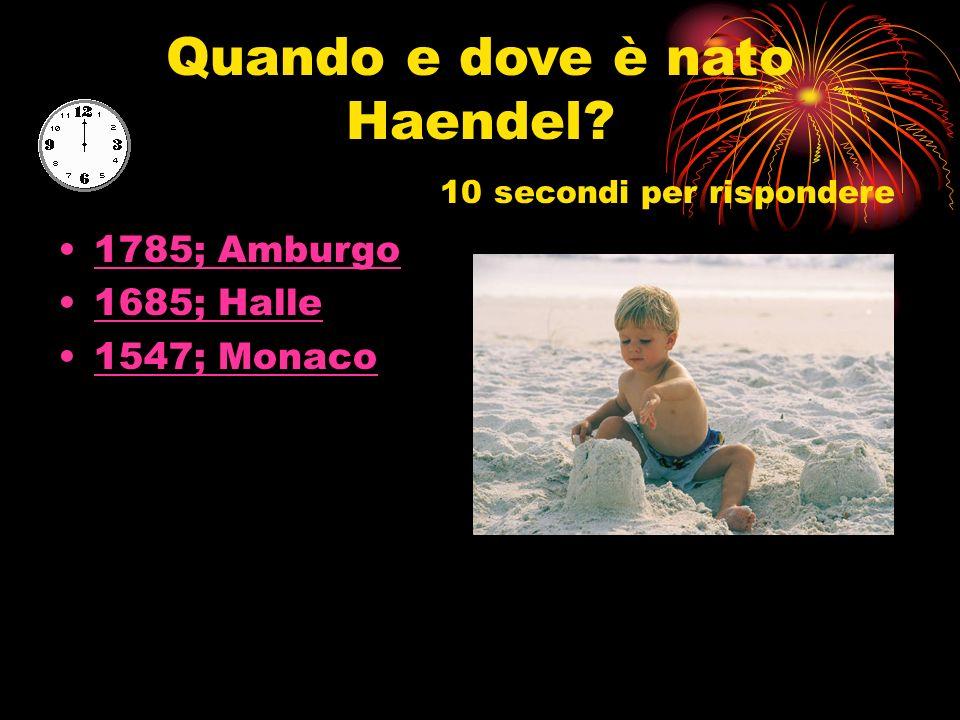 Conosci Georg Friedrich Haendel?